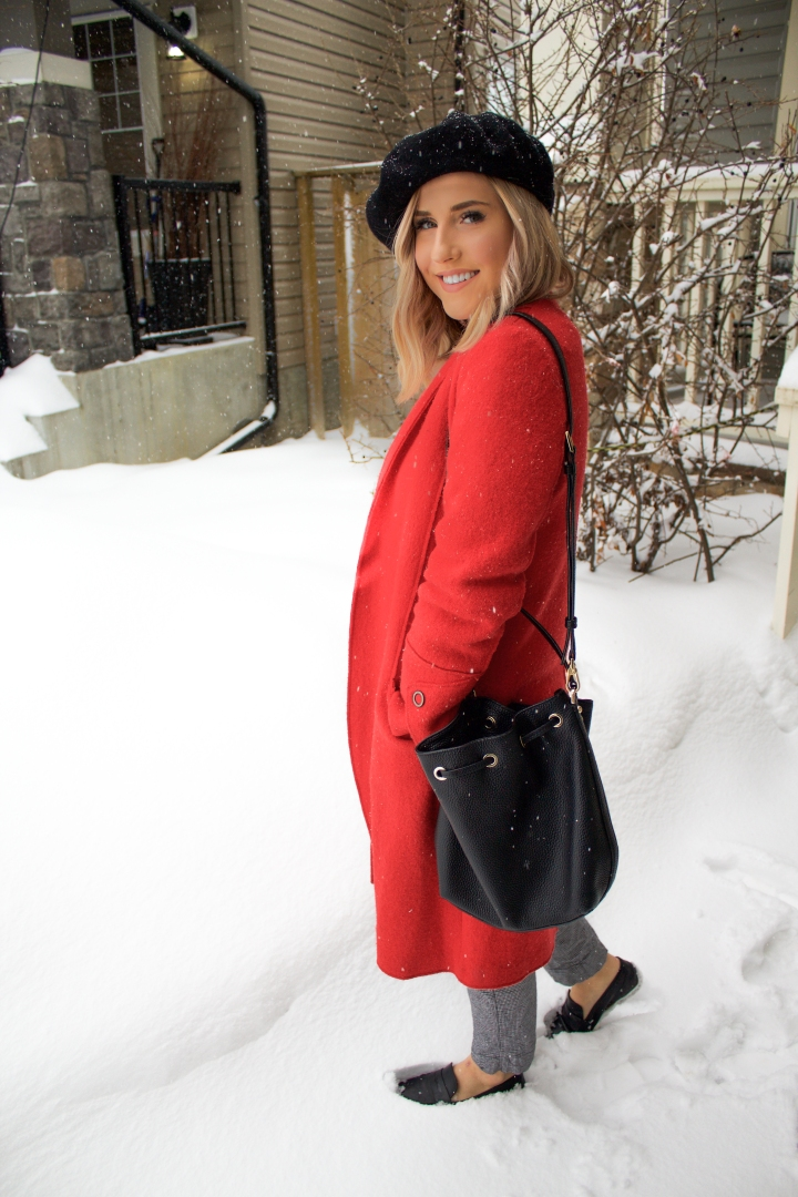 Red Coat & Black Beret